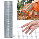 TOOCA Hardware Cloth 1/4inch Chicken Wire Mesh 46in x 50ft, 23 Gauge Hot-Dipped Galvanized Material Fence Wire Mesh for Chicken Coop/Run/Cage/Pen/Vegetables Garden and Home Improvement Project