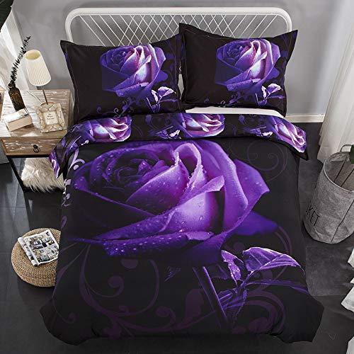 huyiming bedlinings Gebruikt voor Explosie modellen paarse roos driedelige beddengoed vierdelige dekbedovertrekken