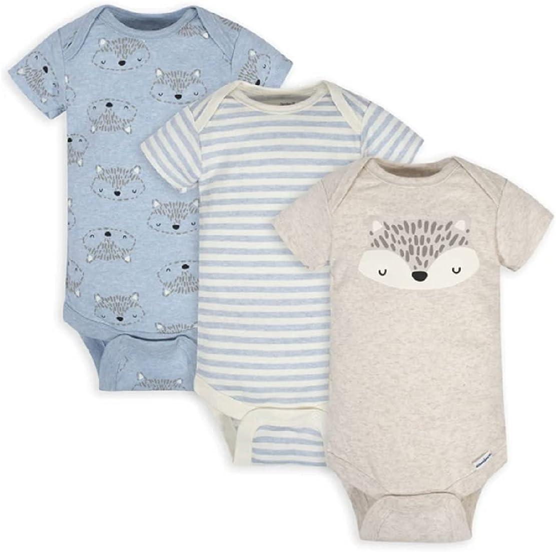 Gerber Baby Boys Organic Short Choice He Super-cheap Sleeve Bodysuit Brand Onesies