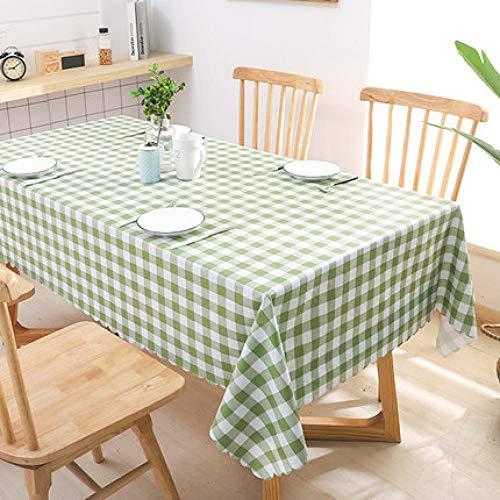 Traann Plastic tafelkleed afvegen, vierkant plastic tafelkleed bescherming olie/vinyl doek alle gelegenheden tafelservies herderrooster 130*190