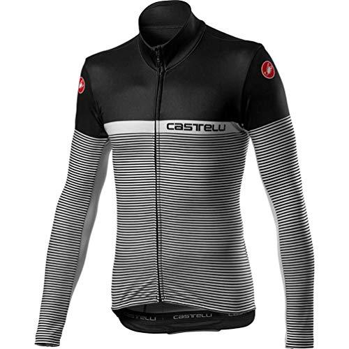 castelli Marinaio Jersey FZ Camiseta, Hombre, Black Silver Gray, X-Large