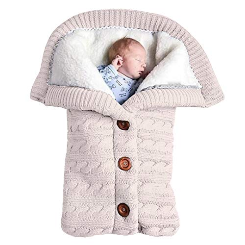 Yinuoday Newborn Baby Swaddle Blanket Fleece Stroller Wrap Nap Blanket Plus Velvet,Baby Kids Toddler Thick Knit Soft Warm Blanket Swaddle Sleeping Bag Stroller Sack