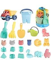 SHANNA Juguetes de Playa para niños, Juguetes para niños pequeños para Pozo de Arena de Playa con moldes de Castillo de Pala para niños de 3 a 10 años de Edad Material plástico Suave