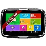Elebest Navigationsgerät Rider A6+ Pro, Navigation für Motorrad und PKW, 5 Zoll Bildschirm Android 6.0 - Bluetooth W-LAN Wasserfest 32 GB Speicher Freisprecheinrichtung Fahrspurassistent Radarwarner