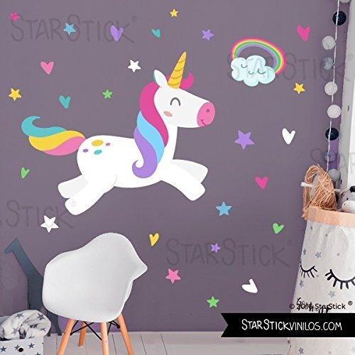 Vinilo infantil para niñas y niños - Unicornio mágico - T0- Basico