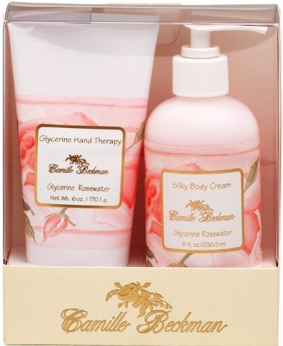 Camille Beckman Hand and Body Duet Gift Set - Glycerine Rosewater Scent by Camille Beckman