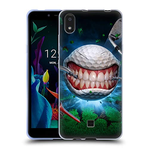 Officiële Tom Wood Golfbal Monsters Soft Gel Case Compatibel voor LG K20 (2019)