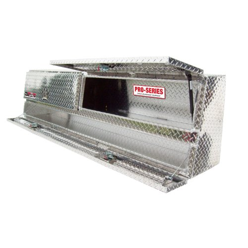 Brute 80-TBS200-90D Pro Series 90' Contractor TopSider Polished Aluminum Tool Box with Doors