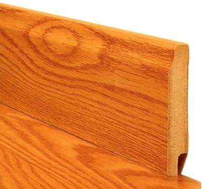 Cal-Flor GA07372 Baseboard Wood Molding, 94-Inch, Warm Maple, 2-Pack