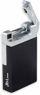 JetLine Opal Single Traditional Flame Pipe Lighter in an Attractive Gift Box Warranty Black
