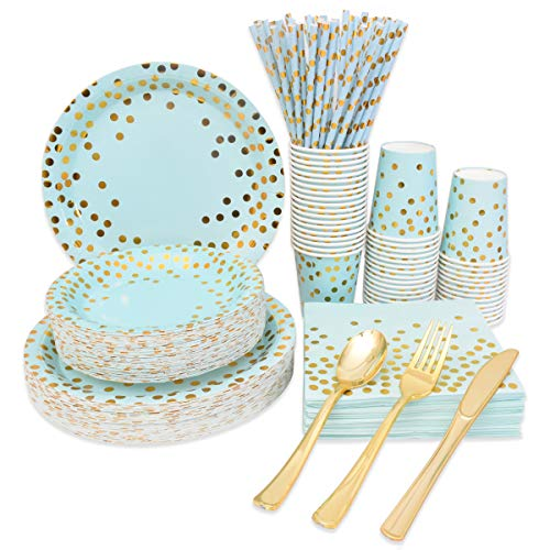 Blue and Gold Party Supplies Dis...