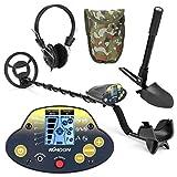 Detector de metales subterráneo, KKmoon MD-5030KK, portátil, fácil instalación, detección de metales para adultos, alta sensibilidad, joyería de tesoro, buscador de herramientas