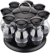 Pots d'assaisonnement à condiments à cruet rotatif pour épices Sprays au poivre bouteilles salières titulaire organisateur...