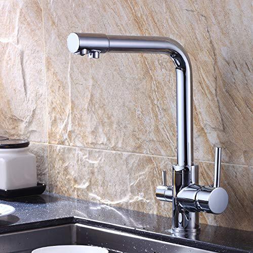 WANGXINQUAN Cobre Purificación de Agua Grifo de la Cocina Caliente y Agua fría único Grifo de la Cocina Baño