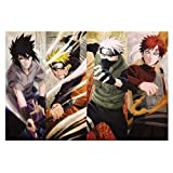 ZDWTXA Wooden Puzzle Naruto Anime Character Quarter Figure 1000 Tablets Exquisite Decompression Educational Toys Home Wall Decoration Painting Boys and Girls Puzzles