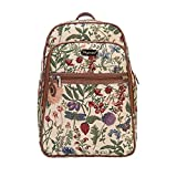 Signare Tapestry backpack purse for Women computer backpack bookbags for women with Morning Garden Design (BKPK-MGD)