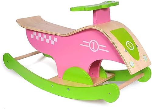 Rocking chair Chaise à Bascule Health UK - Jouet Multifonction pour bébé en Bois Massif - Grand Cheval à Bascule épais