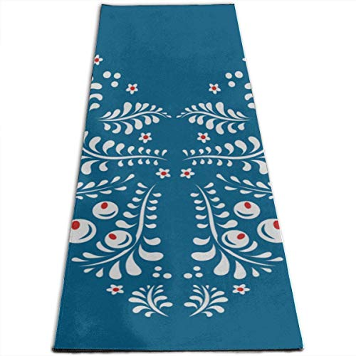 YYRR Tappetino yoga Yoga Zeal Mat Khokhloma Personalized Printing ThickNon-Slip Anti-Tear High Density Lightweight with Carrying Strap Storage Pockets Exercises Mat