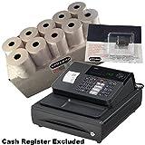 EPOSBITS® Marca 20 rollos + 1 tinta para caja registradora Casio 140CR 140 CR.