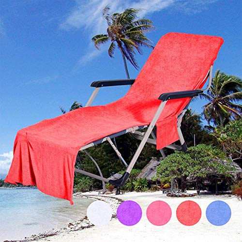 Tumbona Bolsillos Toallas Playa Microfibra Cubierta
