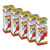 tesa - Rodillo adhesivo permanente cartucho de pegamento en cinta, multipack de 5 cartuchos, 14 m x 8.4 mm