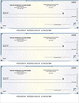 CheckSimple Laser Business Checks 3/Page High Security - Compatible with QuickBooks Quicken  250 Qty  - Custom