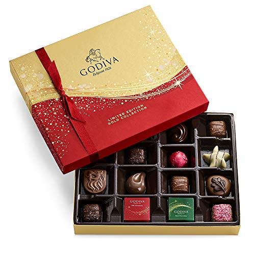 Godiva Chocolatier Limited-Edition Holiday Assorted Chocolate Gift Box, 16-Ct.