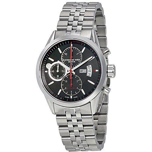 Raymond Weil Freelancer Black Dial Chronograph Stainless Steel Automatic Mens Watch 7730-ST-20041