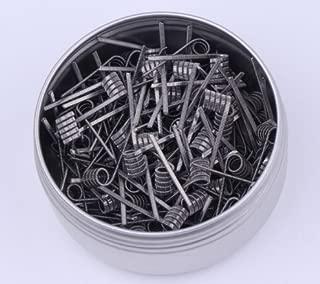 RUIYITECH: 100 piezas de hilos trenzados de clapton para colmenas, prefabricados, alambres de envoltura para alien resistencia al tigre y bobina rda Alien 0.26ohm