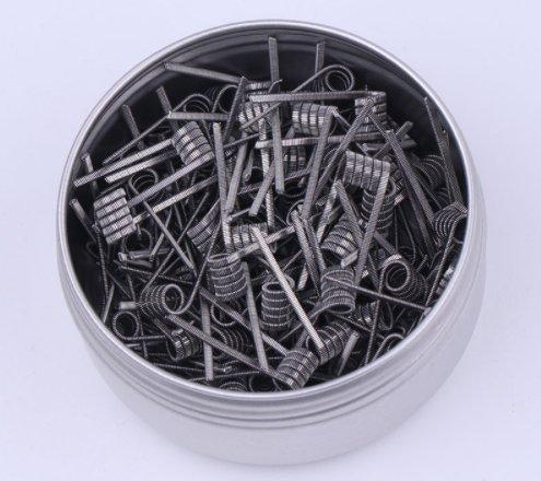RUIYITECH Hive- / Clapton-Draht/ Alien-Draht, verdrillt, fusioniert, vorgefertigt, hitzeresistent, RDA-Spule, 100 Stk.  Alien 0.26ohm