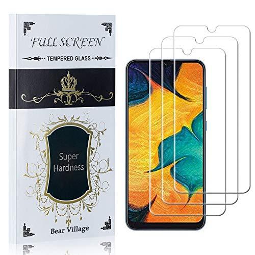 Bear Village Displayschutzfolie für Galaxy A51, 99% Transparenz Schutzfilm aus Gehärtetem Glas für Samsung Galaxy A51, Blasenfrei, 9H Härte, Anti Kratzen, 3 Stück