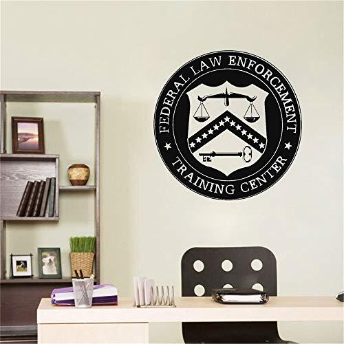 LOIUYT diseño bufete de abogados logo abogado vinilo calcomanía pegatina personalizada nombre de la empresa escala judicial decoración de ventana 57x57cm