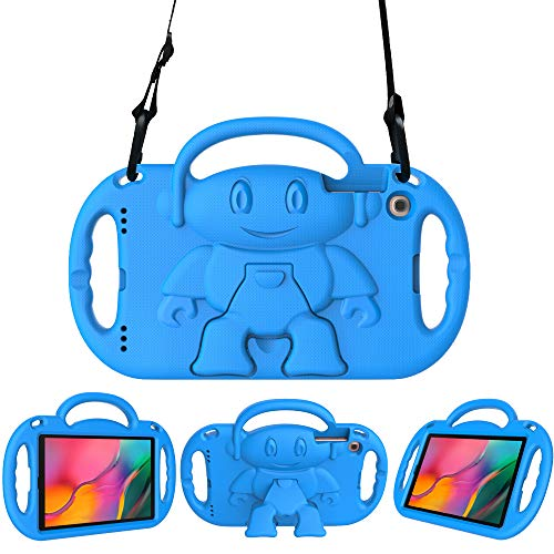 Surom Kids Case for Samsung Galaxy Tab A 10.1' 2019, Light Weight Shock Proof Friendly Handle Kids Stand with Shoulder Strap for Tab A 10.1' 2019 (Model SM-T510/T515), Blue