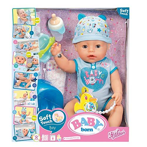 Giochi Preziosi Baby Born, Boy Soft Touch Bambola 43 cm