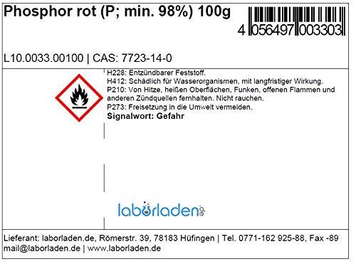 100g Phosphor, rot zur Synthese reinst, min 98,5% von naturverlesen