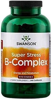 Swanson Super Stress Vitamin B-Complex with Vitamin C 240 Caps