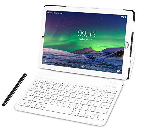 Tablet 10.1 Pulgadas YESTEL Android 8.1 Tablets con 3GB RAM & 32GB ROM y 4G LTE Dual SIM Call, 5.0 MP + 8.0 MP HD la Cámara y 8000mAH-Plata