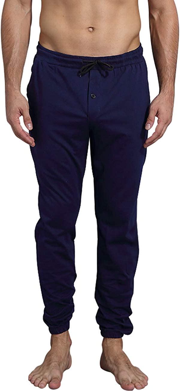 QRANSS Mens Pajama Pants Set Bottoms Lounge Sleepwear PJs with Pockets