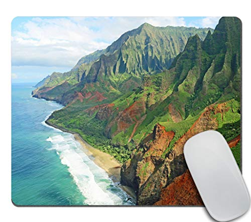 Amcove Hawaii Gaming Mousepad, Na Pali Coast Mouse pad, Kauai Mouse pad Non-Slip Rubber Rectangle Mouse Pads for Computers Laptop