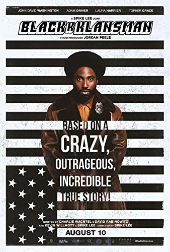 Poster Blackkklansman Movie 70 X 45 cm