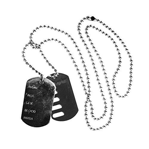 Etiquetas de perro del ejrcito perfecto para soldado ejrcito militar disfraz accesorios  paquete de 6
