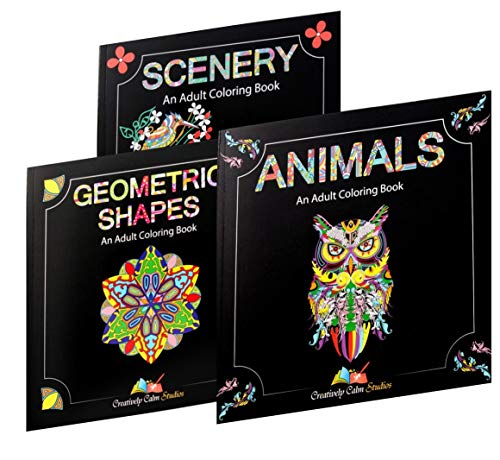 Adult Coloring Book Gift Set