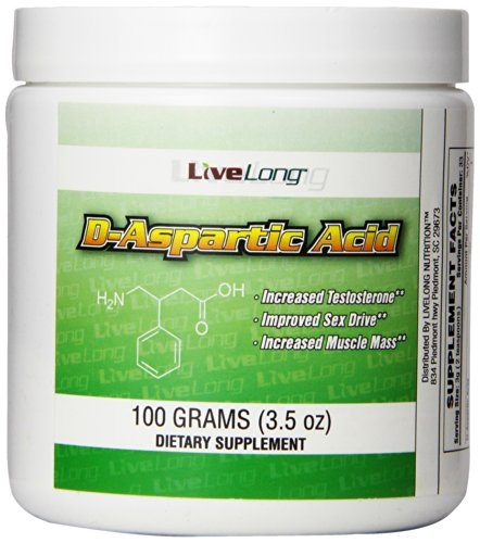 D-Aspartic Acid - Supporting Lean Muscle Mass, Strength, Recovery and Sexual Health, Promotes The Signal to Produce Testosterone in The Pituitary Gland, 100g Powder for Bodybuilding and Fitness