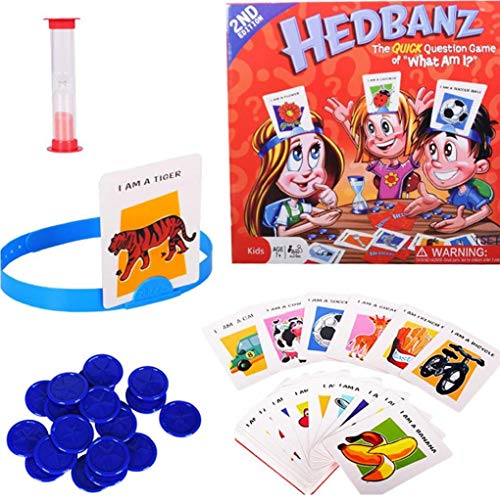 Sanfiyya 1 Pc Hedbanz Juego Guess Who I Am Juego de Mesa de Juego de la Familia los Personajes de Disney Juego de Cartas Juguetes