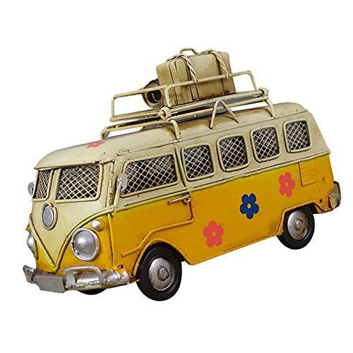 Hucha caja fuerte Creative Hierro Piggy Bank Vintage Bus Forma de autobús Caja de monedas NOSTALGIC Memoria de la infancia Metal Regalo Decoración para el hogar para niños Niños Huchas infantiles