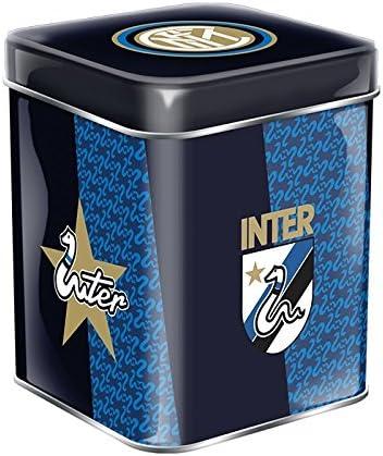 Mini panettone inter senza canditi 80 grammi  squadra calcio internazionale in scatola di latta B077C5B5Z2