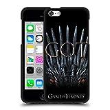 Head Case Designs Oficial HBO Game of Thrones Trono del Dragón Temporada 8 Key Art Funda de Gel Negro Compatible con Apple iPhone 5c
