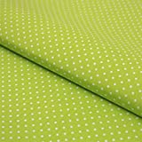 Hans-Textil-Shop Stoff Meterware Punkte 2 mm Weiß auf