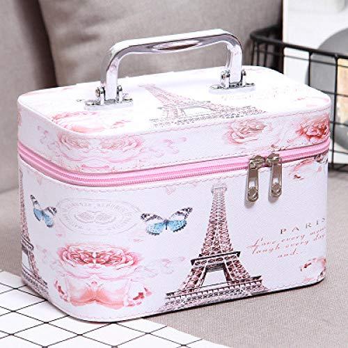 Tour cosmétique de sac-papillon cosmétique portatif multifonctionnel mignon de boîte à outils de cosmétiques grand