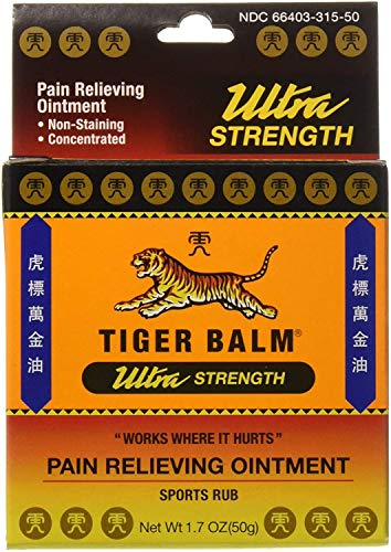 Tiger Balm Pain Relieving Ointment, Sports Ultra, 50g – Professional Size...